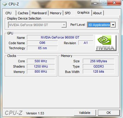 GPU 9600M GT ii
