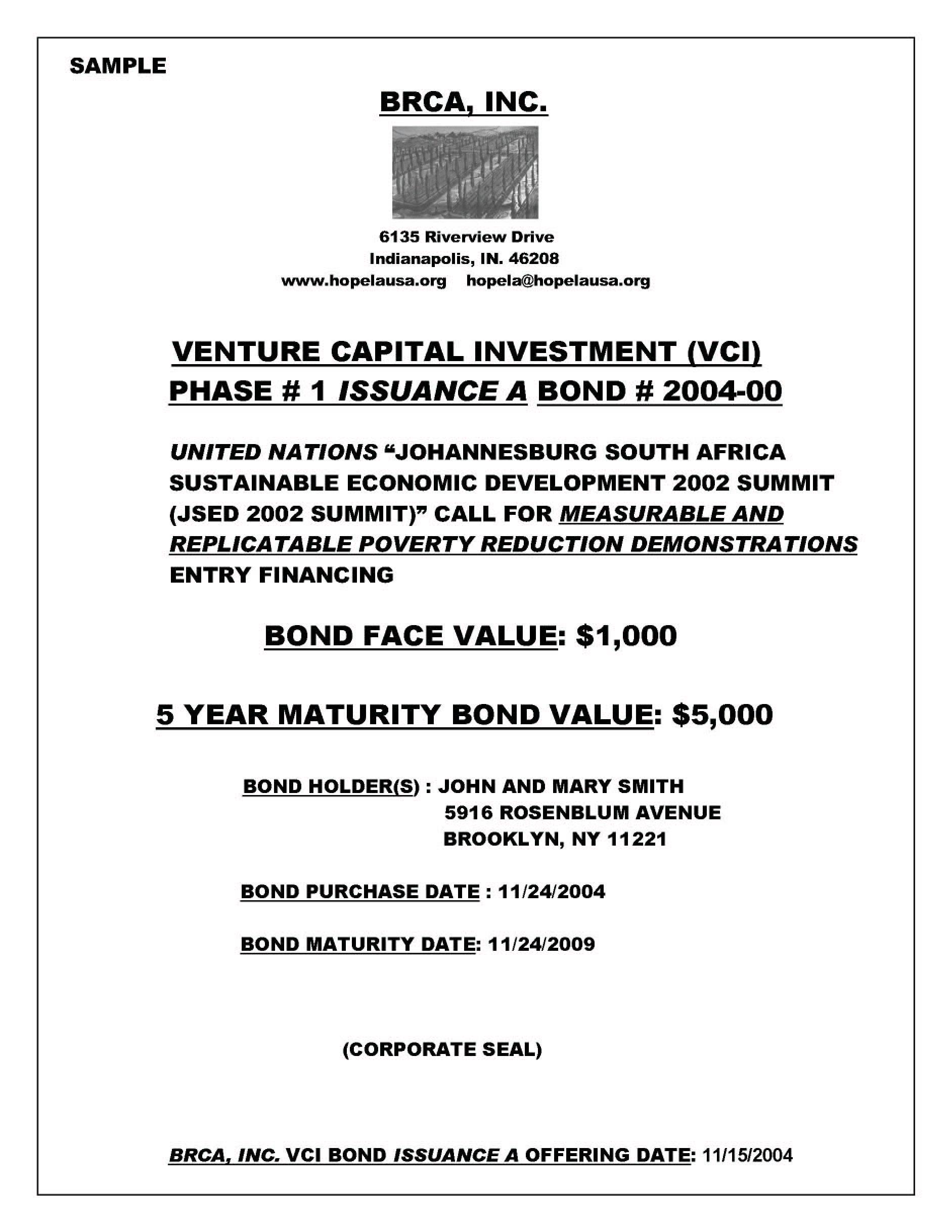 contoh surat sertifikat obligasi perusahaan