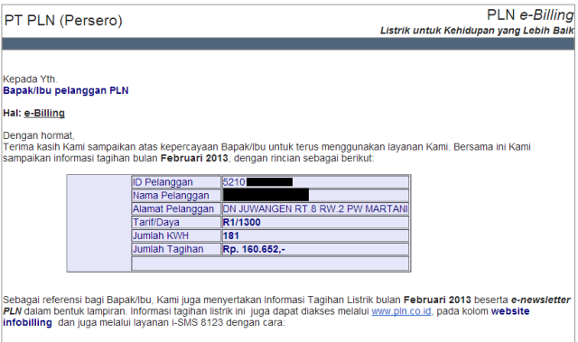 PLN eBill Feb